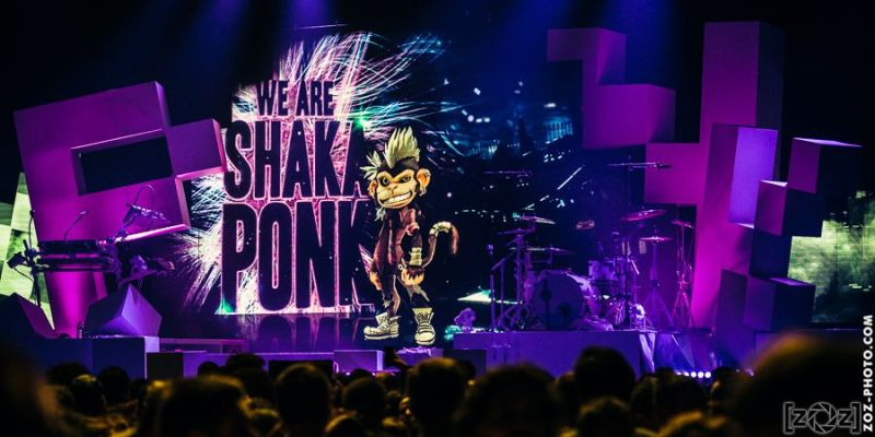 Shaka Ponk, Zénith (Paris), le 5 juin 2014.