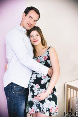 Diana et Maxime, séance grossesse en couple, Groisy, le 14 février 2015.