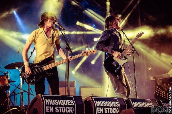 """Palma Violets, festival """"Musiques en stock"""" (Cluses), le 4 juillet 2015."""