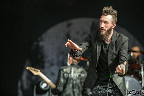 Caliban au Hellfest à Clisson, le 19 juin 2016. Festival de musiques extrêmes et metal en France.