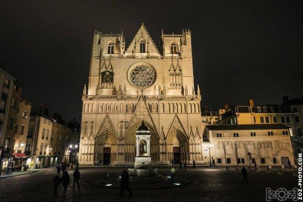 Fête des Lumières 2016: Cathédrale Saint-Jean à Lyon