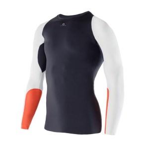 Men Athletic LS Top black orange