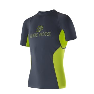 Men Athletic SS Top titanium chartreuse