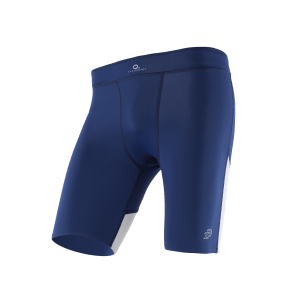 ATHLETIC COMPRESSION SHORTS M BlueberryWhite Front