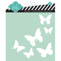 Трафарет Butterfly, 15х15 см, Heidi Swapp, HS00841