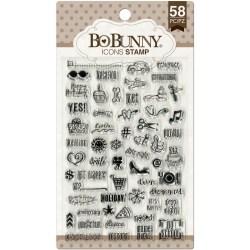 Штампи акрилові Icons, Bo Bunny, 12105438
