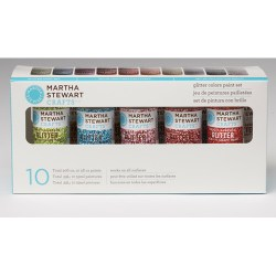 Набір фарби Multi-Surface Glitter Acrylic Craft Paint, 10 шт, Martha Stewart Crafts, 32309
