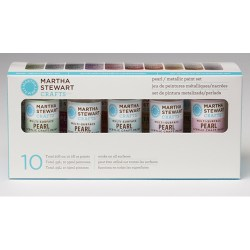 Набір фарби Multi-Surface Pearl/Metallic Acrylic Craft Paint, 10 шт, Martha Stewart Crafts, 32310