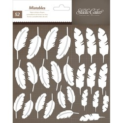 Наклейки Mistable Thickers, SC Classic v.3 – Feathers, Studio Calico, 331115