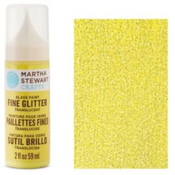 Фарба Fine Glitter Translucent Glass Paint – Lemon Drop, Martha Stewart Crafts™, 33152