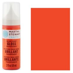 Фарба Gloss Transparent Glass Paint – Red Coral, Martha Stewart Crafts™, 33172