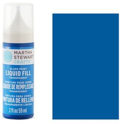 Фарба Liquid Fill Transparent Glass Paint – Blue Bonnet, Martha Stewart Crafts™, 33206