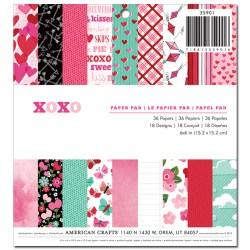 Набір паперу XOXO, American Crafts, 15х15 см, 35901