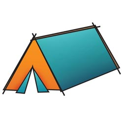 Штамп акриловий Outdoor Adventure – Tent, Imaginisce, 400173