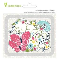 Висічки картонні Welcome Spring Blossom, Imaginisce, 400585