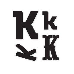 Штампи, літера K, WeR Memory Keepers, 41316-5