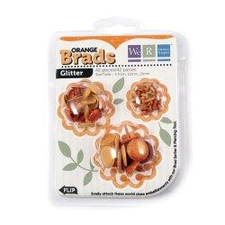 Брадси Basic Brads Glitter – Orange, 42053-8