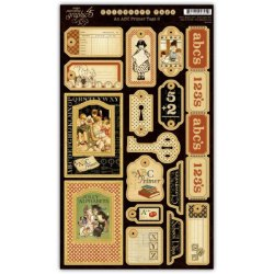 Набір висічок, An ABC Primer Chipboard 2, Graphic 45, 4500393