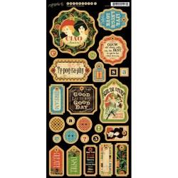 Набір висічок Typography Chipboard, Graphic 45, 4500778