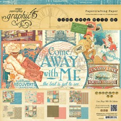 Набір паперу Come Away with Me, 20х20 см, Graphic 45, 4500923
