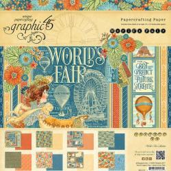 Набір паперу World's Fair, 30х30 см, Graphic 45, 4501177
