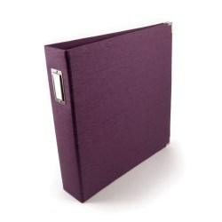 Альбом Black Linen Eggplant, 30х30 см, WeR Memory Keepers, 70379-2