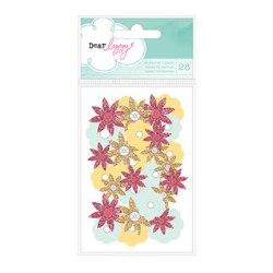 Набір квітів Dear Lizzy 5th & Frolic Decorative Glitter Flowers, American Crafts, 77292