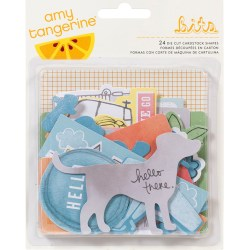 Висічки Amy Tangerine Yes Please Bits Cardstock Die-Cuts, 24 шт, 85626