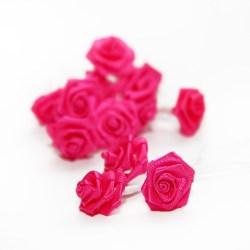 Букет троянд Ribbon Rose Fuchsia, 12 шт, B1154FU