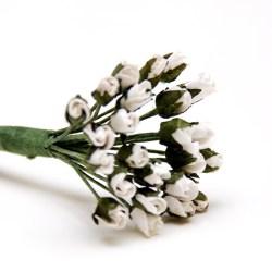 Букет троянд White Minute Rosebuds, 24 шт, B1699WH