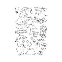Штампи Fun In The Rain, Hero Arts, CM152