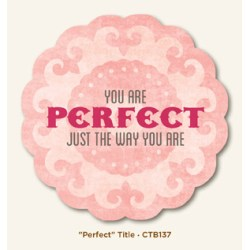 Картка для журналінгу Perfect, My Mind's Eye, CTB137