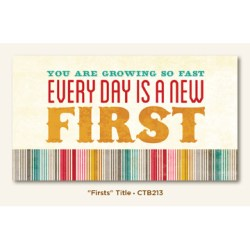 Картка для журналінгу Firsts, My Mind's Eye, CTB213