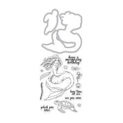 Набір штампи + ножі Mermaid Stamp & Cut, Hero Arts, DC226