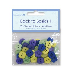 Ґудзики Back to Basics II – Mini Buttons, Dovecraft, 60 шт, DCBN001