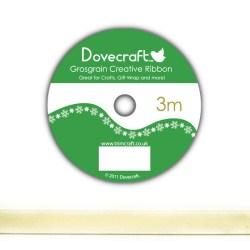 Рулон стрічки Dovecraft Christmas Ribbon, сатин, 3м, DCCR008