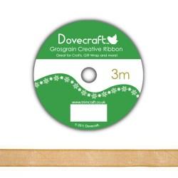 Рулон стрічки Dovecraft Christmas Ribbon, органза, 3м, DCCR011