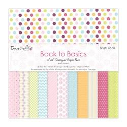 Набір паперу Back to Basics – Bright Spark, 30×30 см, Dovecraft, DCDP149