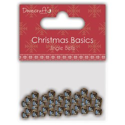 Дзвоники Christmas Basics Jingle Bells – Silver, Dovecraft, DCMTL004X15