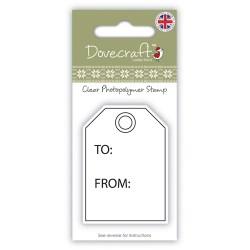 Штамп Gift Tag, Dovecraft, DCXCS007