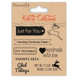 Штамп Krafty Christmas – Sentiments, Dovecraft, DCXCS11