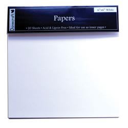 Сторінки для створення альбомів – Dovecraft, 15×15, білі, DCZT07