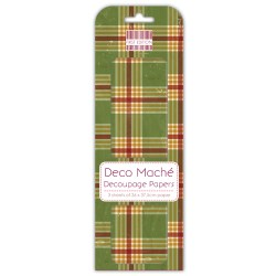 Папір для декупажу Deco Maché – Tartan, First Edition, FEXDEC008