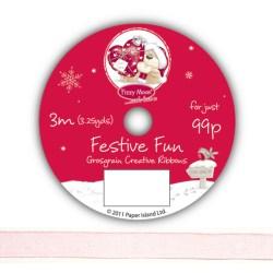 Рулон стрічки Fizzy Moon Festive Fun Ribbon, органза, 3м, FZFFRB05