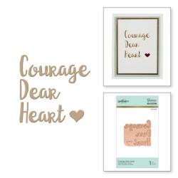 Пластина для фольгування Courage Dear Heart, Spellbinders, GLP-002