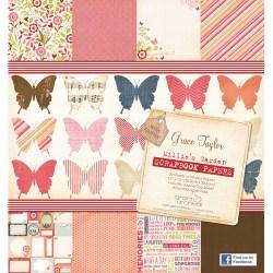 Набір паперу Millie's Garden, 30х30 см, Grace Taylor, GS2132