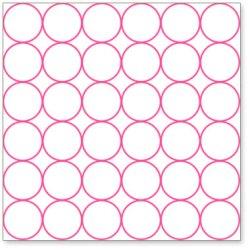 Оверлей Chic Circles 30×30 Pink Overlay, HO544