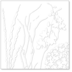 Оверлей Twigs & Weeds 30×30 White Overlay, HO554