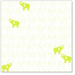 Оверлей Elephants In A Row 30×30 Lime Green Overlay, HO735