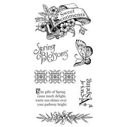 Штампи Sweet Sentiment 1, Graphic 45/Hampton Art, IC0290